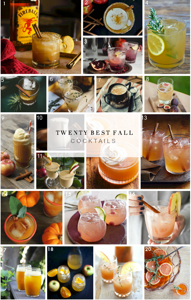 Best Fall Cocktails Roundup