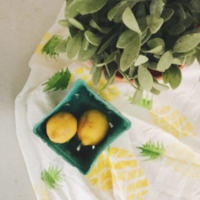 DIY Pineapple Napkin Print