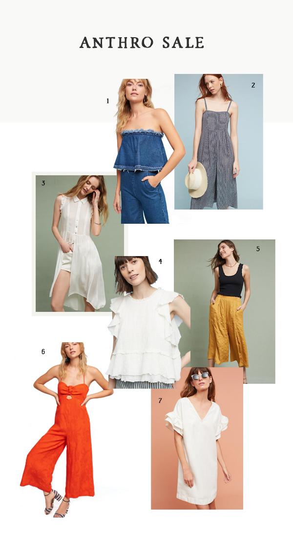 d0c269cf0550 Cascade Tiered Shell    5. Atoll Beach Pants    6. Tropicale Jumpsuit    7  . Lottie Fluttered Tunic Dress I went to Anthropologie today because   AnthroDay!