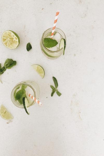 Summer Sparkling Cucumber Limeade