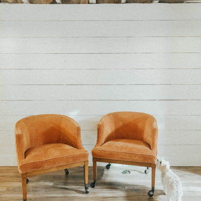 Thrifted Coral Chairs